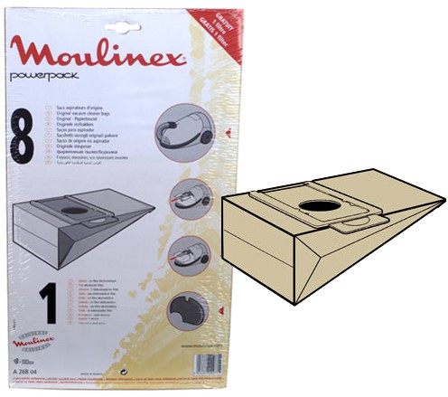 MOULINEX A26B04 Stofzakken Power Pack