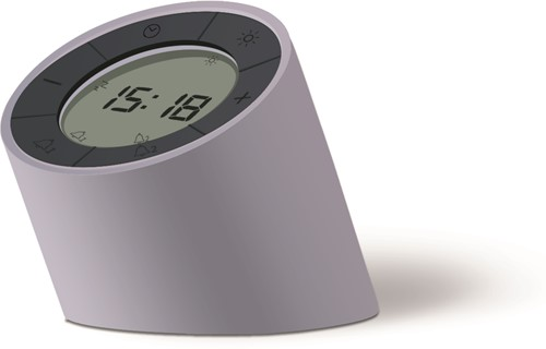GINGKO The Edge Light Alarm Clock matt Grey