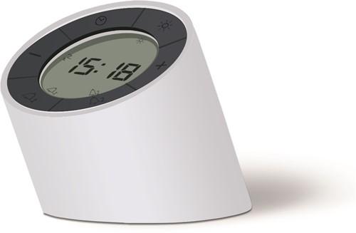 GINGKO The Edge Light Alarm Clock creamWhite