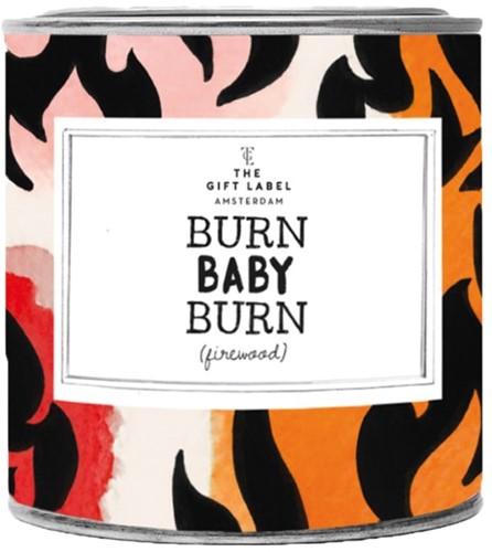 THE GIFT LABEL 1011646 GEURKAARS BURN BABY BURN FIREWOOD